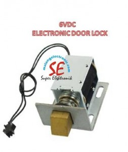 Jual Electronic Door Lock Open Frame 6V | Solenoid Locker Pintu Murah