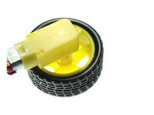 Motor DC Plastic Dilengkapi Roda (Gearbox Motor Dc Plastik Murah)