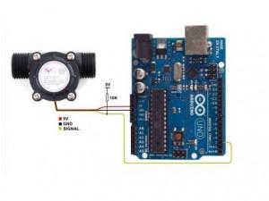cara-menghubungkan-arduino-dengan-water-flow-sensor