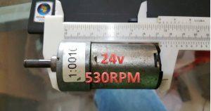 Motor Dc Penarik Beban 24V 530RPM(Motor Dc Second Berkualitas)