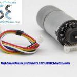 Motor Dc 1000rpm 12V Plus Encoder Otomatis (Jual Motor Dc Encoder)