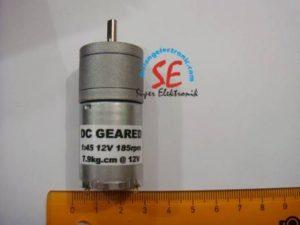 Gearbox Motor DC 12V 185Rpm Otomatis (DC Geared Motor 12v)