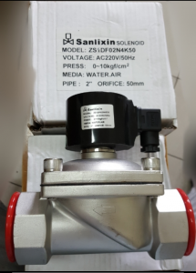 Solenoid Valve 2 Inch Stainless Steel Sanlixin