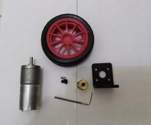 Motor Dc Line Tracer Kit Lengkap Roda Dan Bracket