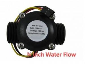 Water Flow Sensor 3/4 Inch Canggih / Harga Water Flow Meter 3/4 In – Out
