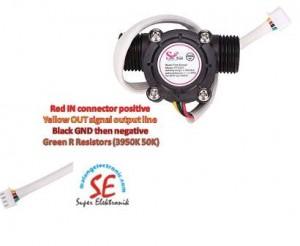 Jual Water Flow Sensor With Temperature / Flow Sensor Murah