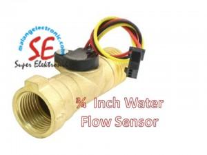 Water Flow Sensor 3/4 Inch Bahan Kuningan | Sensor Pengisian Cairan