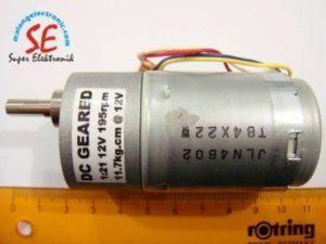 Motor DC 195RPM Torsi 11.7kgcm (Motor DC Robotika)