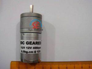 Gearbox Motor DC 400RPM (Geared Motor 12VDC 400RPM)