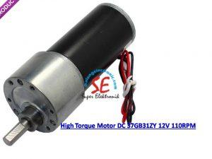 Motor Dc Gearbox 110RPM Torsi 6KG (12v Motor Dc Untuk Penggerak)