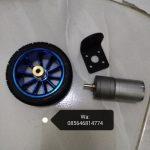 Motor Dc Robot 12v 300Rpm Lengkap Roda